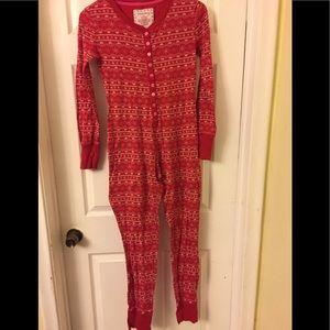 Women's XS | Onesie | Red Pajamas | 100% Cotton